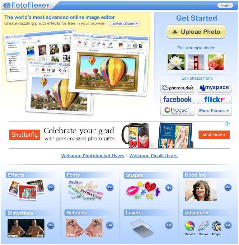 FotoFlexer free online photo editor