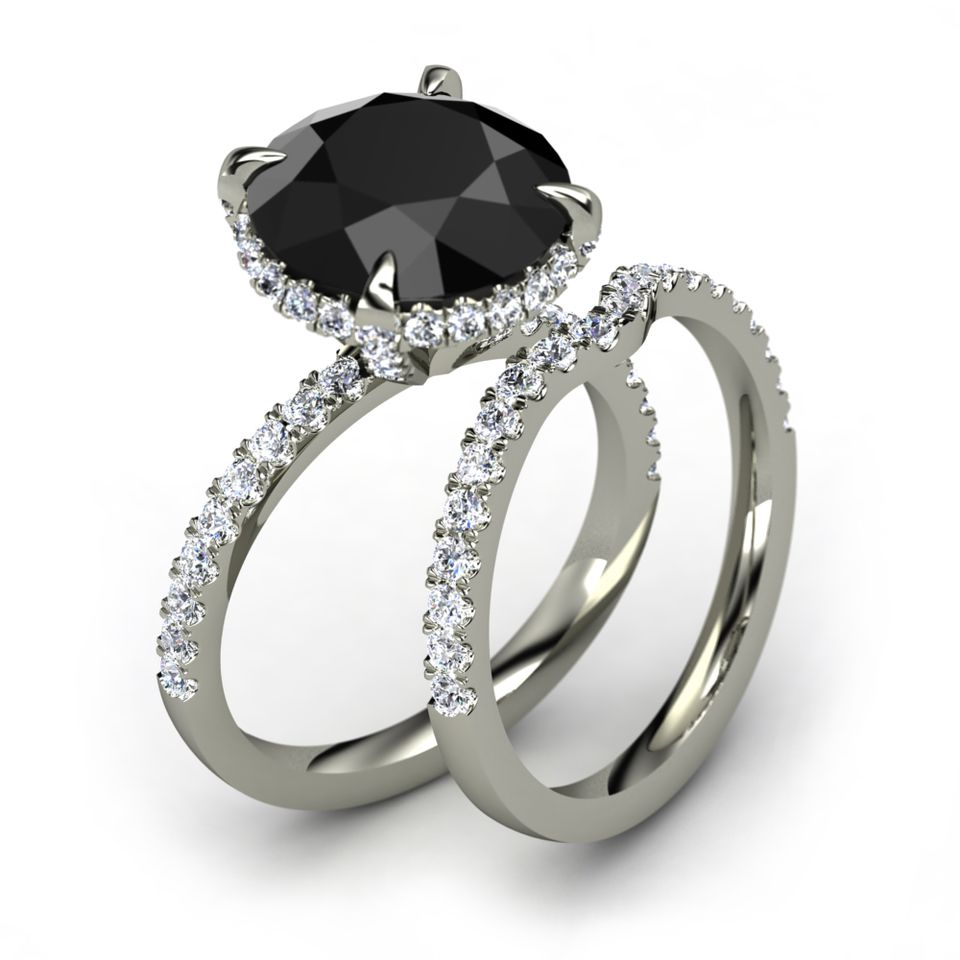really diamonds diamond whitediamondplatinumwithband carrie platinum fun rings carrieringblack black facts matching wedding with ring band about copygemvarablack gemvara engagement round