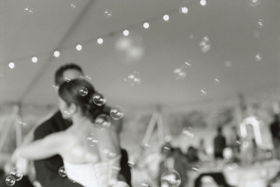 Bride and Bridegroom Dancing
