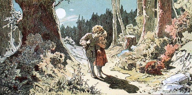 Hänsel and Gretel; Darstellung von Alexander Zick (1845 - 1907)