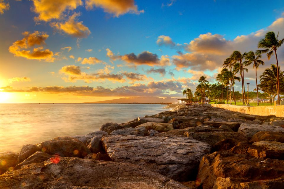 Sunset at Kaka'ako, O'ahu