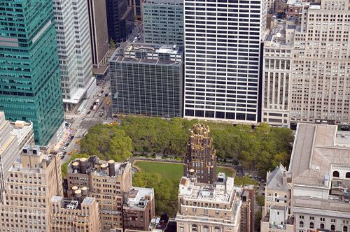 Bryant Park from the Empire State Building