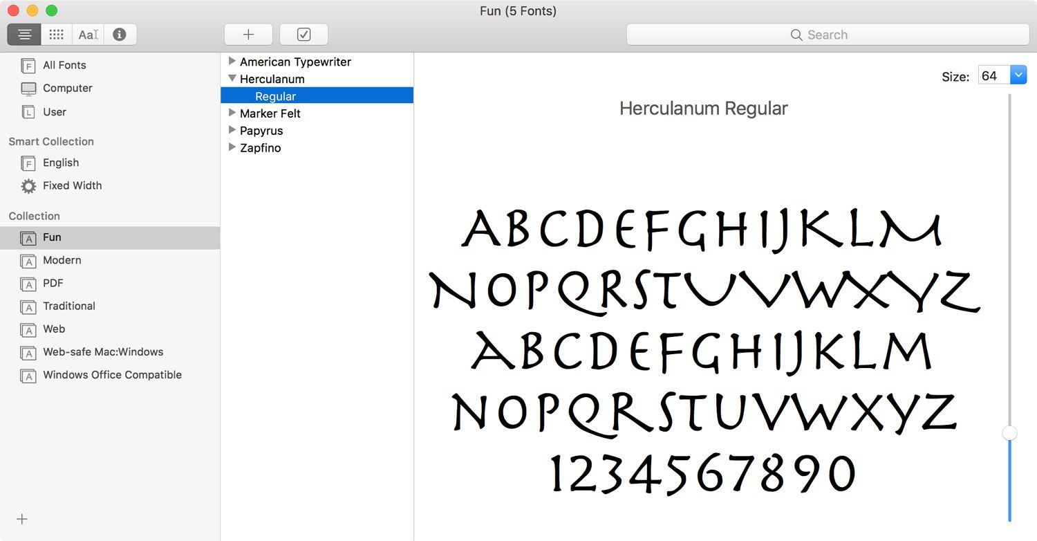 Font Book Collections