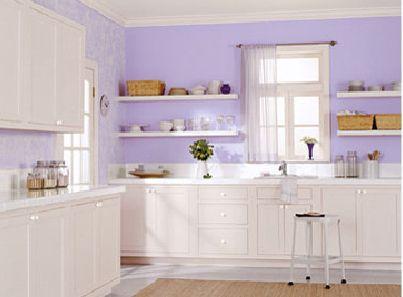 Lavender Kitchen Wall Color