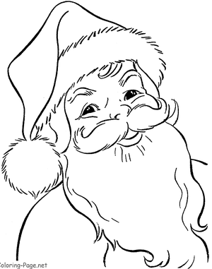 picture of a printable santa claus coloring page - Santa Claus Coloring Page