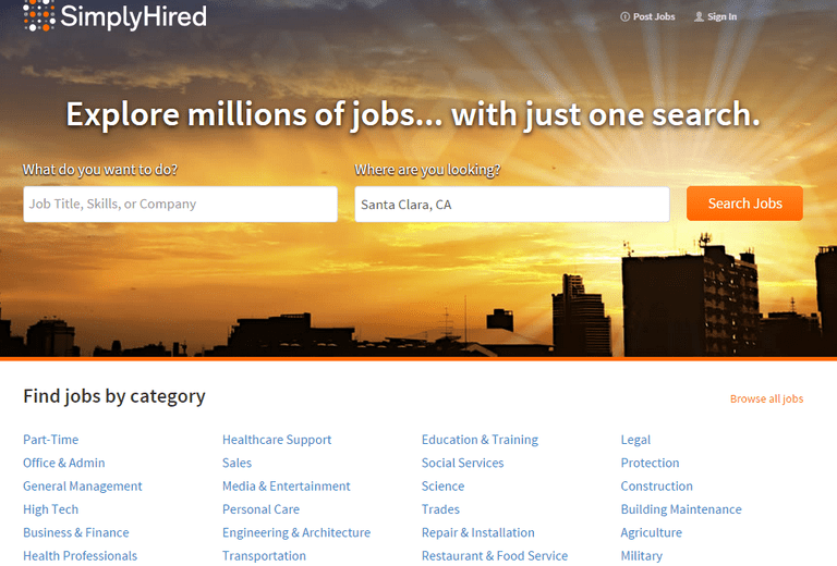 SimplyHired Screenshot