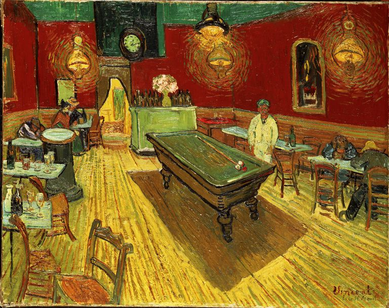 Painting, The Night Cafe, by Vincent van Gogh