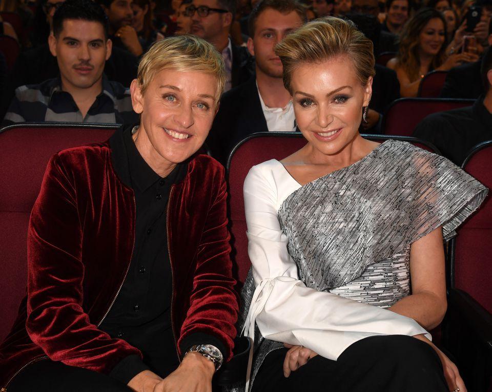 Comedian Ellen DeGeneres and actress Portia de Rossi