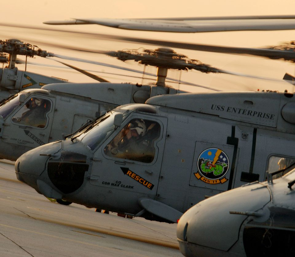 Helicopters on the USS Enterprise