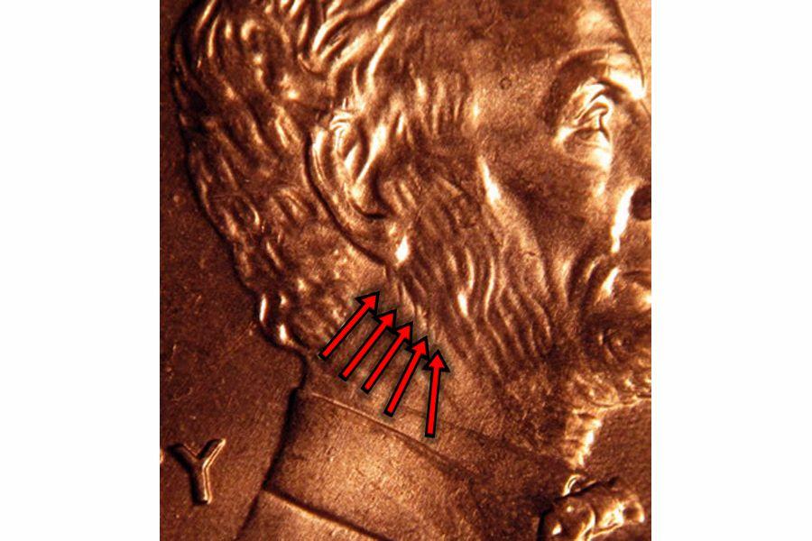 2000-P Extra Beard Penny Error