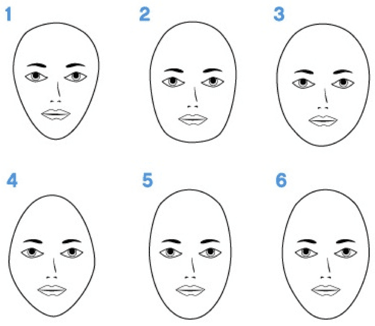 How to measure to determine your face shape from left to right heart shaped face square face round face diamond face long or oblong face oval face image clip art city urmus Gallery