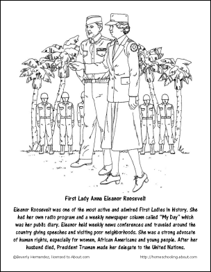 Fdr Word Search Crossword Puzzle And Coloring Pages Eleanor Roosevelt Coloring Pages