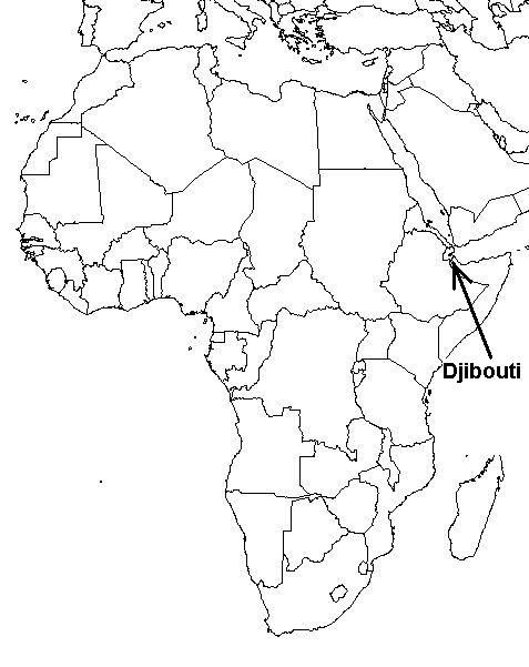 Map of Africa with Djibouti