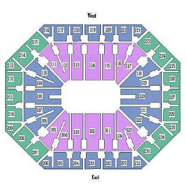 Seating Chart for Talking Stick Resort Arena in Phoenix AZ
