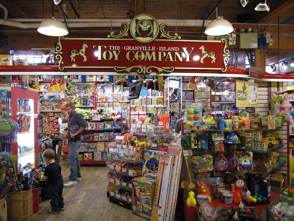 Granville Island Toy Company in the Kids Market at Granville Island