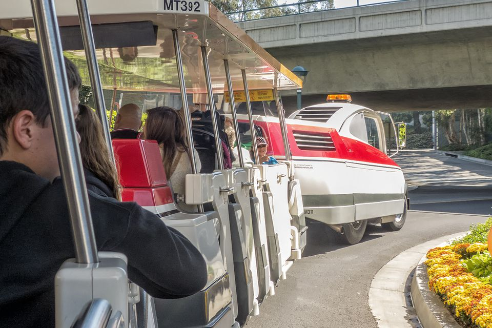 Taking the Tram from Mickey & Friends to Disneyland