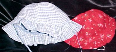 Free Pattern to sew a Toddler Sun Bonnet With a Ruffled Brim