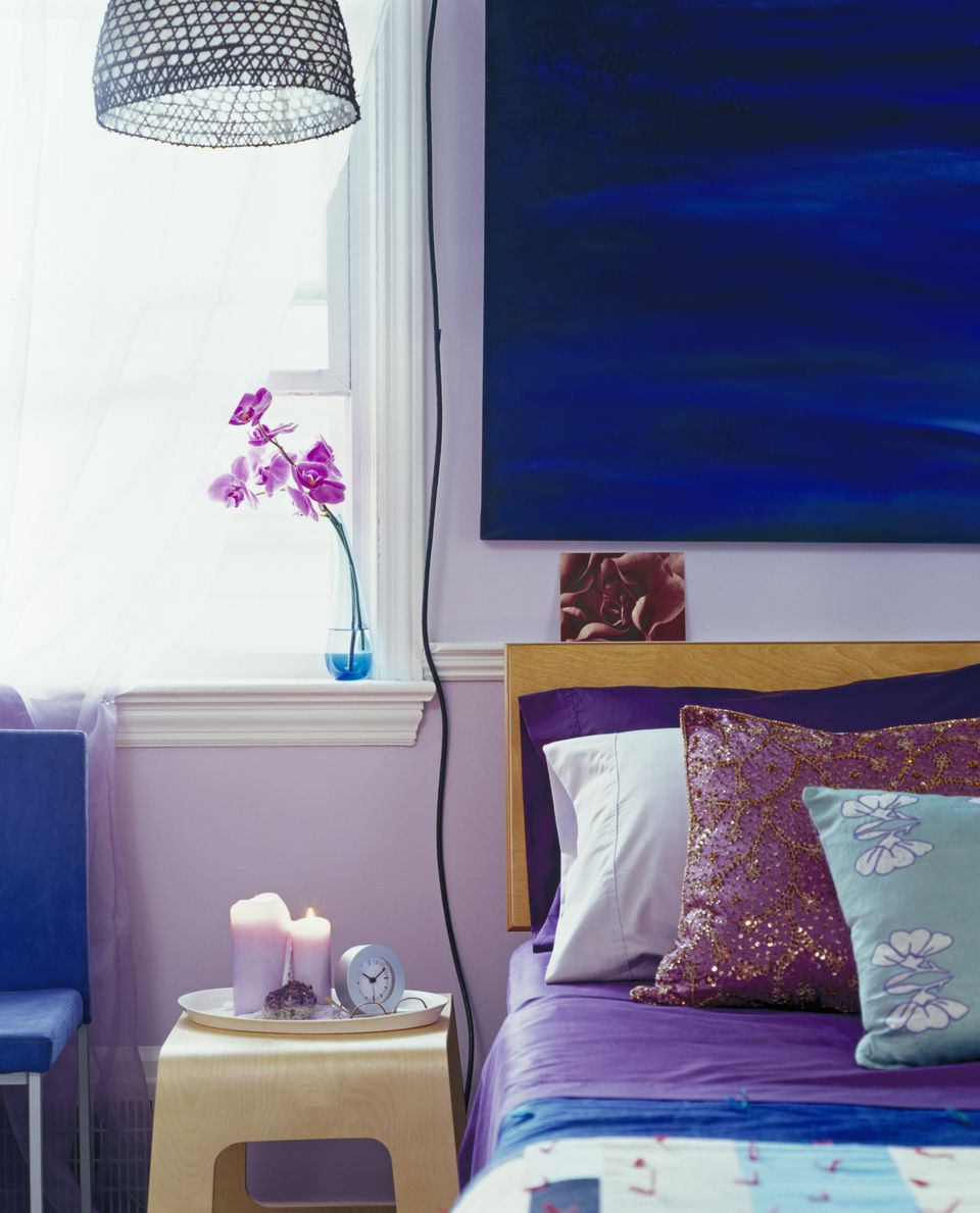blue and purple bedrooms bold color schemes for bedrooms 14612