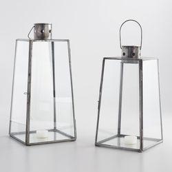 Antiqued Zinc Cargo Lantern