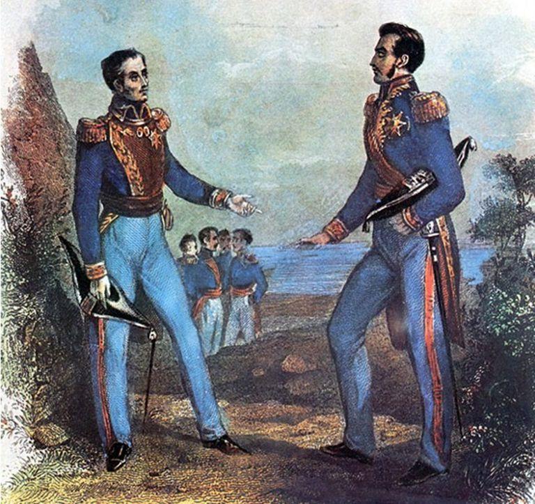 Bolivar meets San Martin