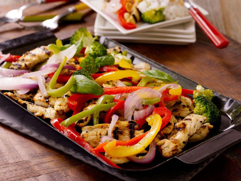 Grilled Chicken Broccoli Stir-Fry