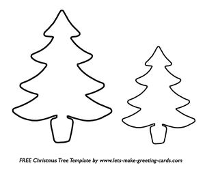 A large and small Christmas tree template
