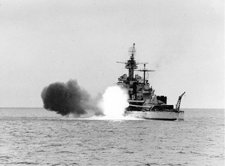 USS Colorado (BB-45) during World War II
