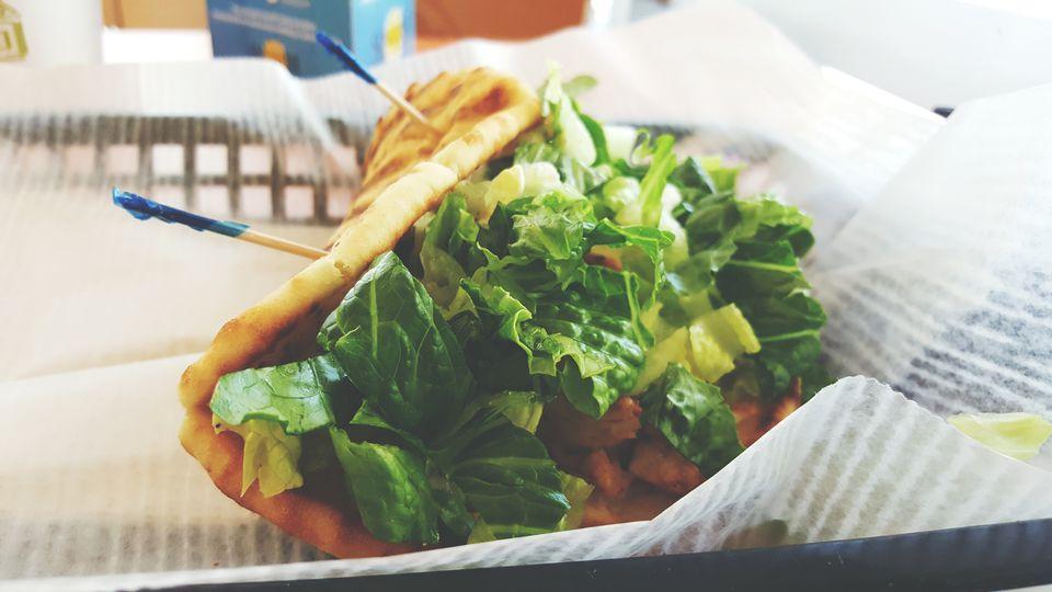 A sandwich on a platter.