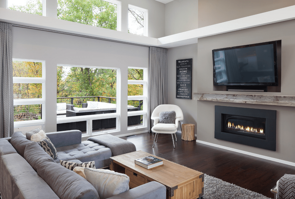 Gray living room ideas Modern gray living room