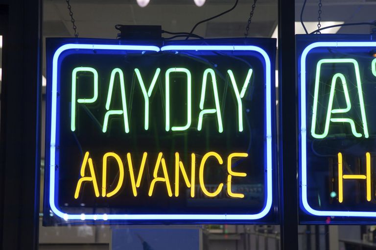 Neon Payday Loan Signs