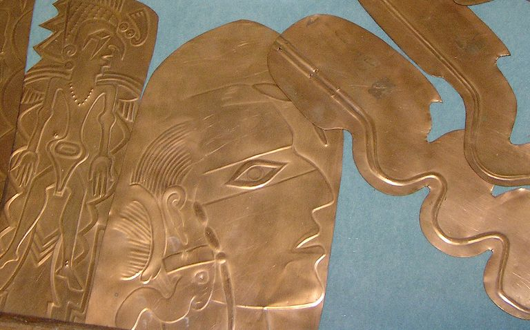 Detail of Re[ousee Copper Plate from Spiro, Oklahoma