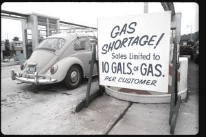 gas shortage sign
