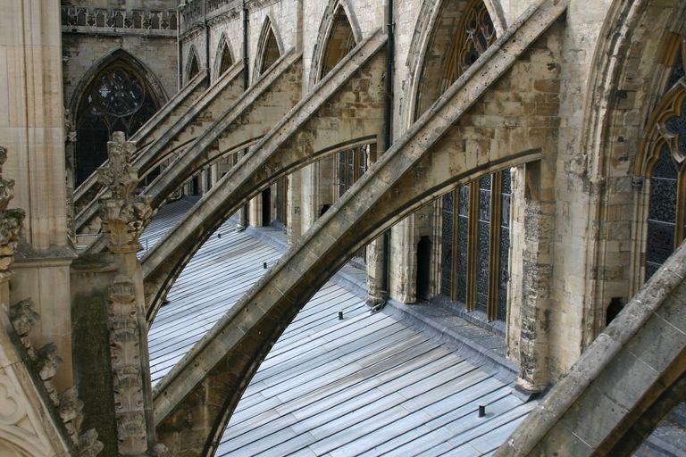 Flying buttress in York, England