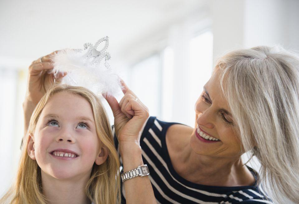 grandmother spoiling her granddaughter
