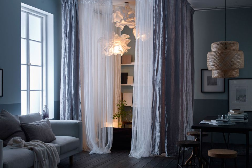 Curtains Ideas For Dividing Seriously Small Apartments