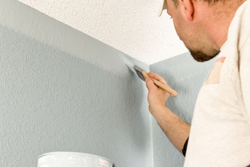 Painter Cutting In Wall 157570457