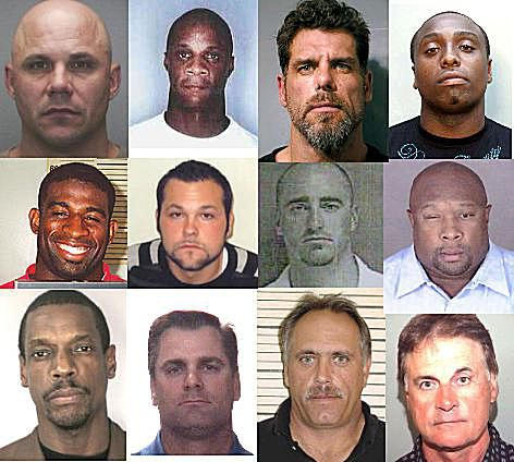 Police Booking Photos of Baseball Players