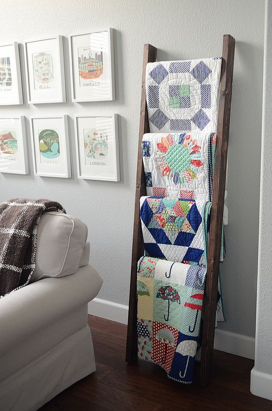 Blankets On A Ladder