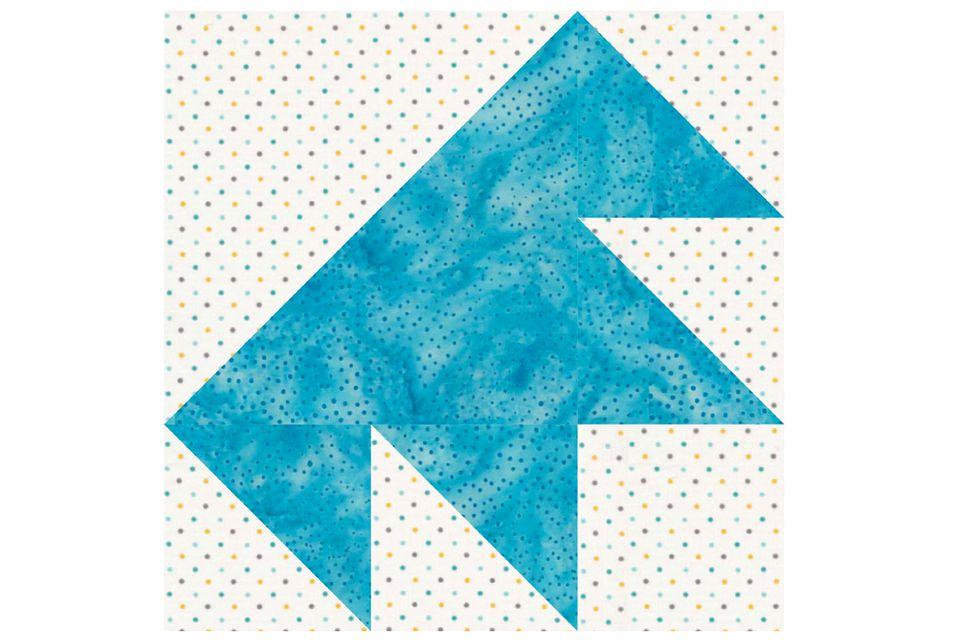 Single T Patchwork Quilt Block Pattern