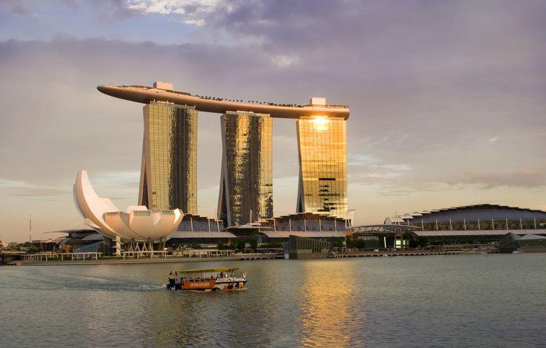 Marina Bay Sands Resort and Casino, designed by Moshe Safdie, Singapore