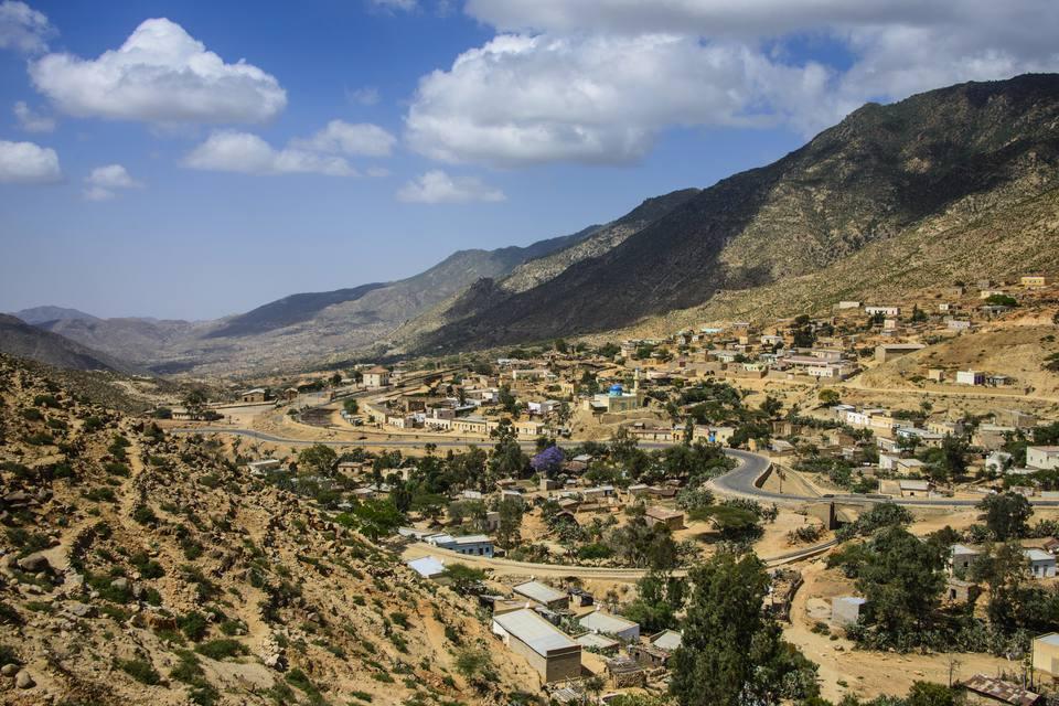 Nefasi below the Debre Bizen monastery along the road from Massawa to Asmara, Eritrea, Africa
