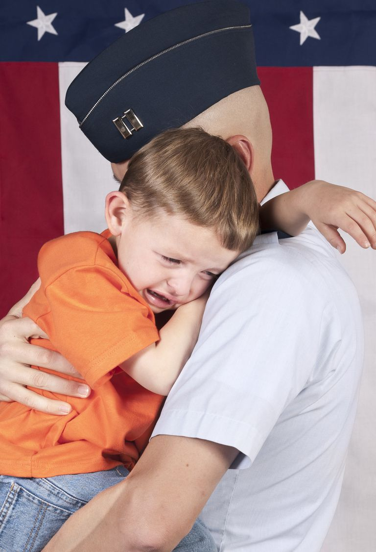 Captain with Crying Son