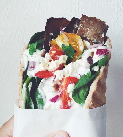 Homemade Greek Gyro Sandwich or Dinner