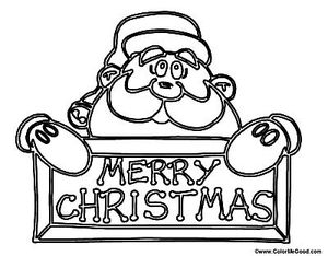 color me goods printable santa coloring pages - Pictures Coloring Pages