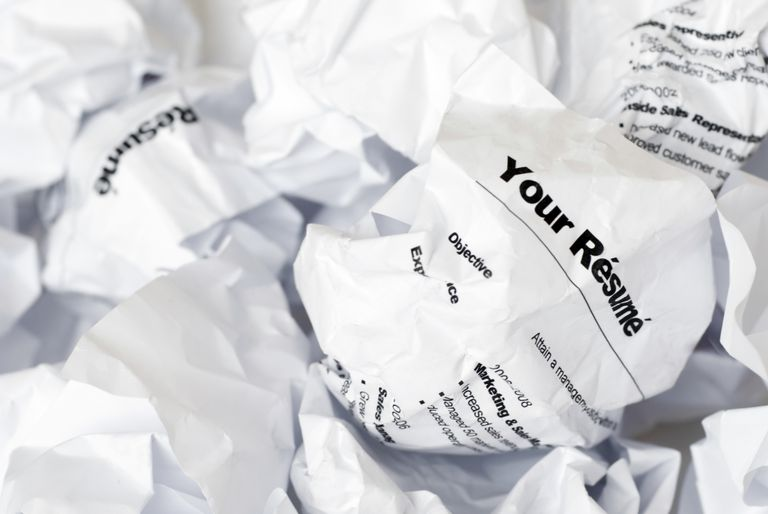 Crumpled resumes
