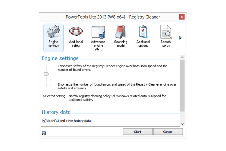 Screenshot of PowerTools Lite 2013 in Windows 8