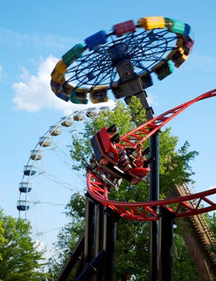Tony Hawk's Big Spin Roller Coaster at Six Flags