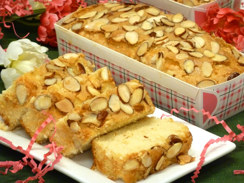 almond loaf recipe, amaretto, loaves, quick bread, receipts