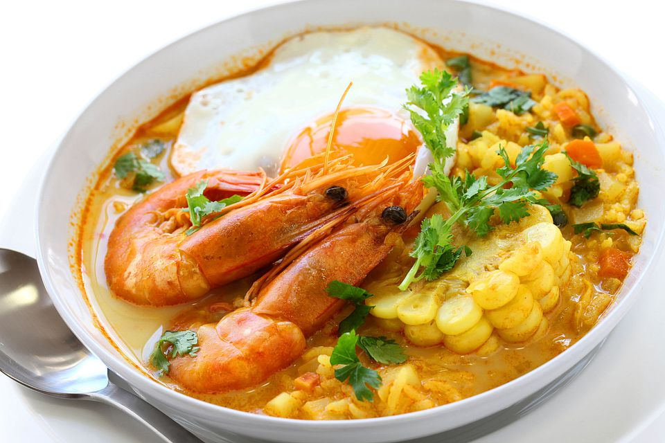 Peruvian Shrimp Chowder