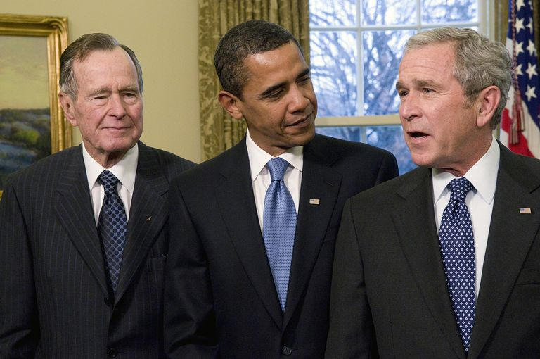 Presidents Bush, Obama, and Bush